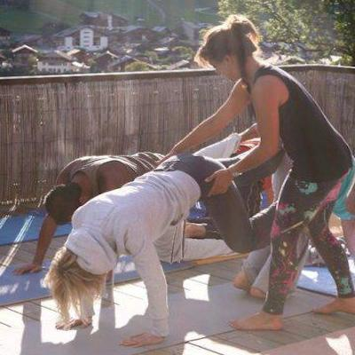 yoga adjustment downward dog